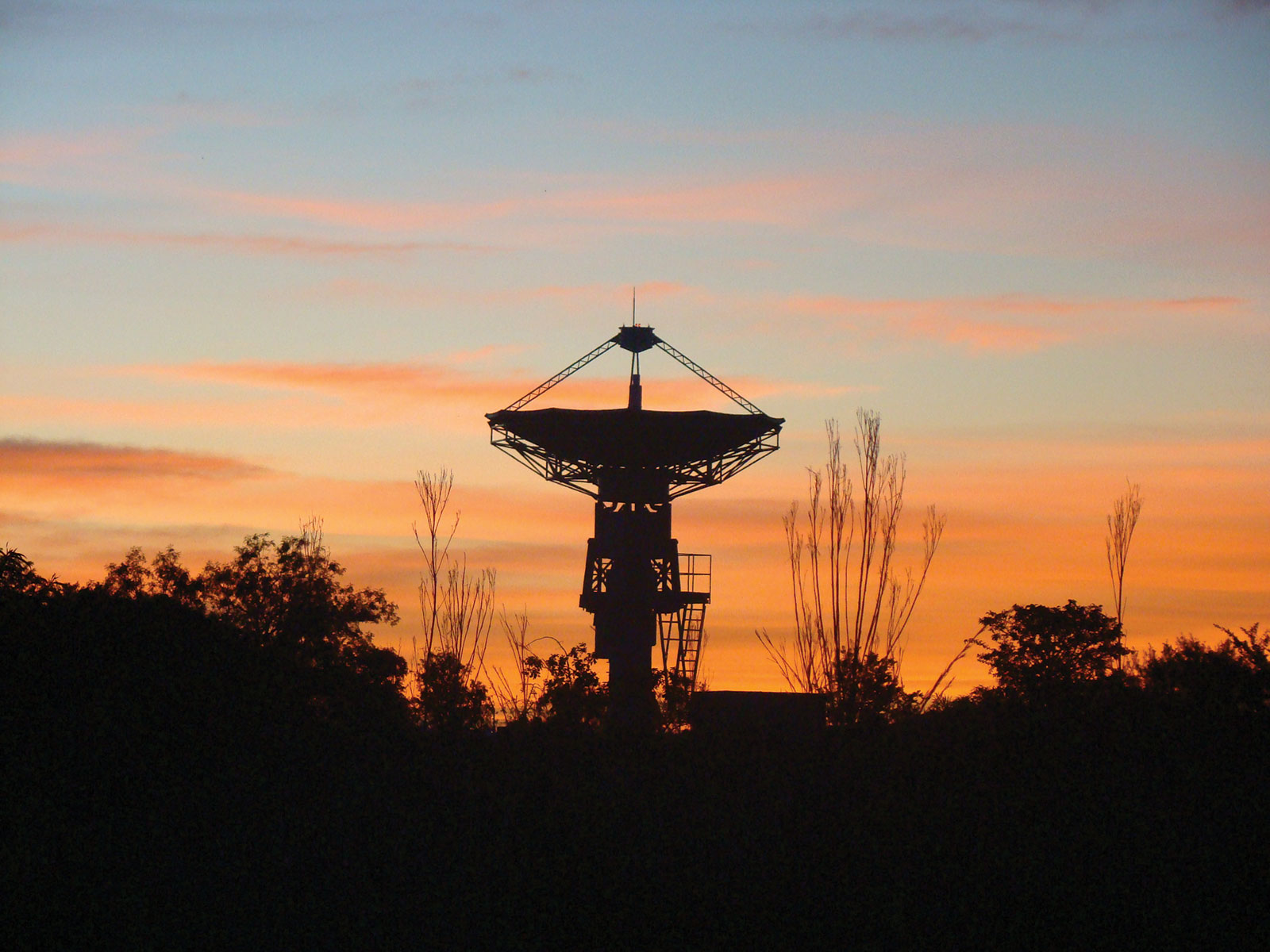 Satellite on a sunset