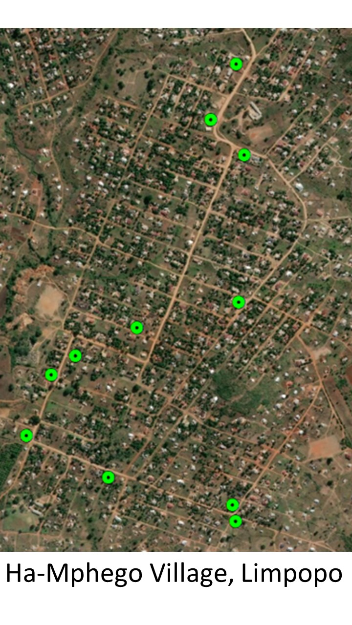 Satellite image of Spaza Shops Limpopo