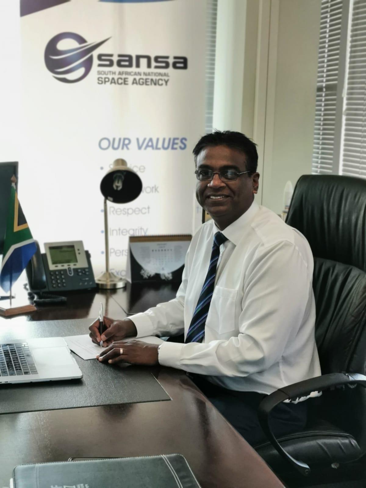 Dr Munsami, CEO SANSA