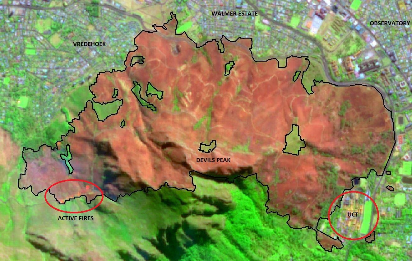 Fire scare over Western Cape