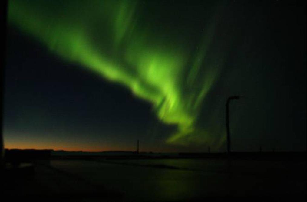 Aurora as seen on 17 September 2021 over Sweden.