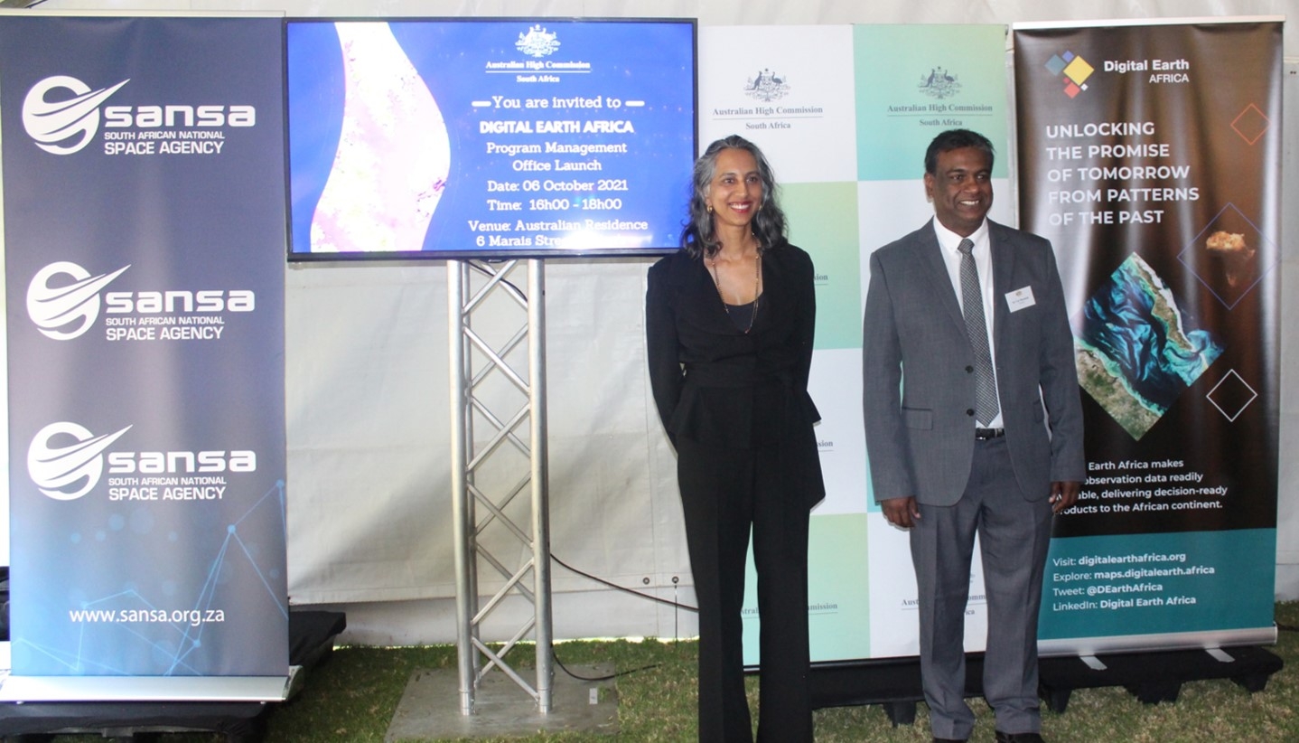 Australian High Commissioner and SANSA CEO at the launch event